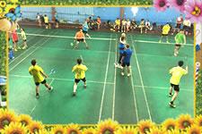 莆羽队与九五医院羽毛球队比赛